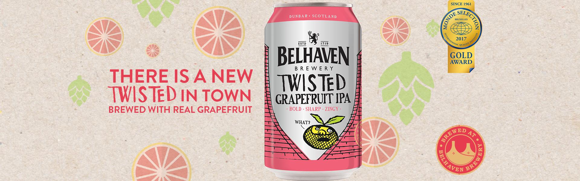 Twisted Grapefuit IPA – Belhaven Brewery lanserar IPA med färsk grapefrukt.