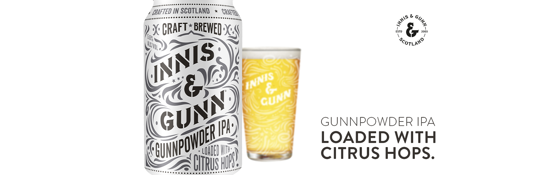Boom! Innis & Gunn Gunnpowder IPA – nu i systembolagets fasta sortment.