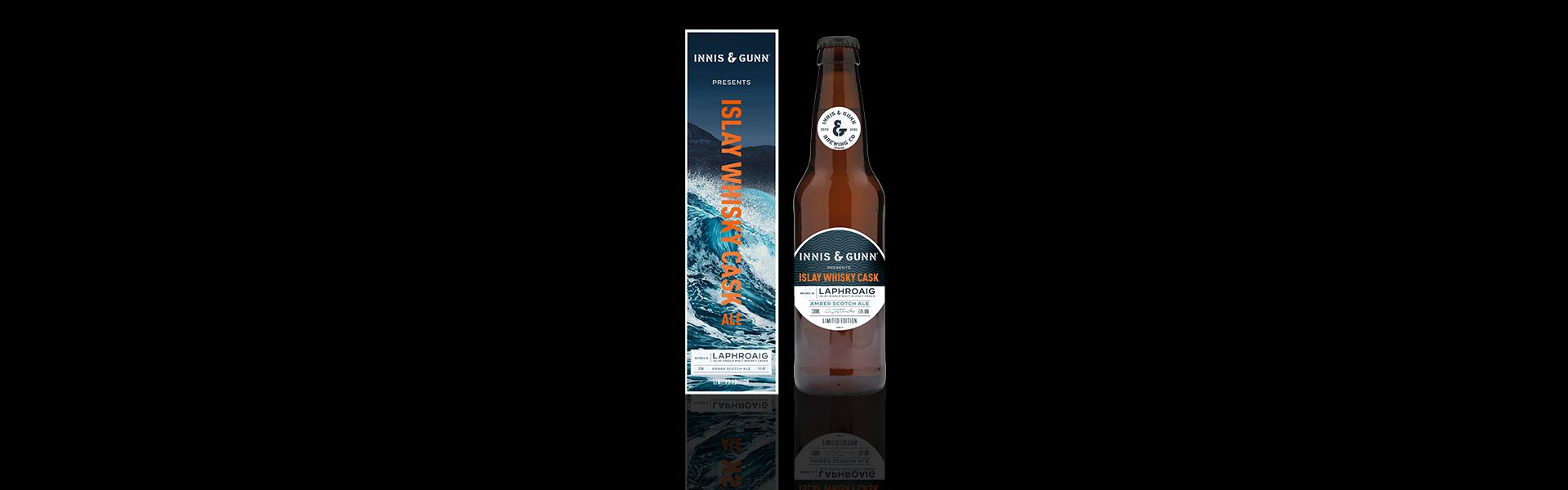 Skotska Innis & Gunn lanserar 'Islay whisky cask' i samarbete med Laphroaig och konstnären Hope Blamire.