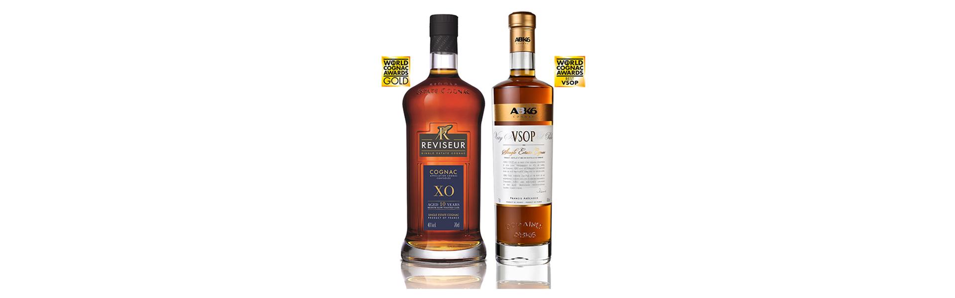 Dubbelt cognacsguld för Le Reviseur XO och ABK6 VSOP